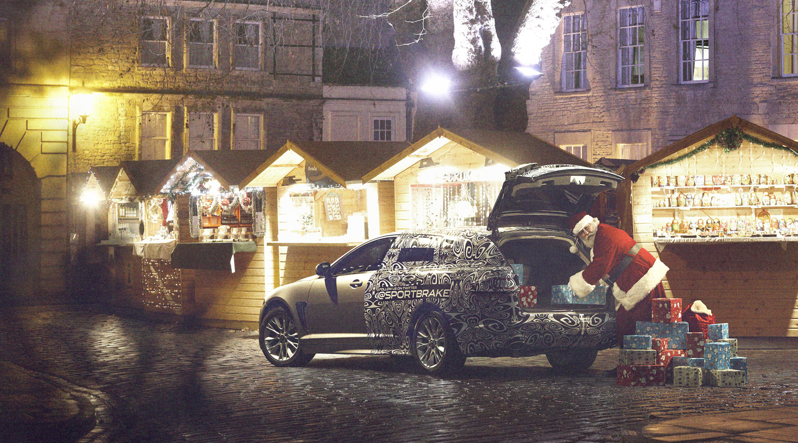 Look Who S Using The New Xf Sportbrake In Jaguar S Christmas Card