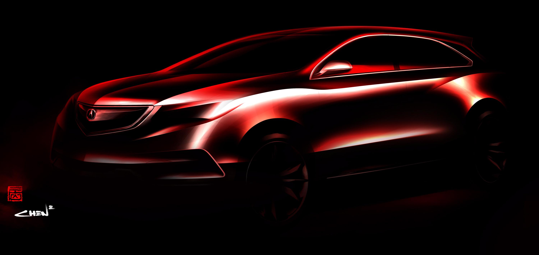 2014 acura mdx prototype teaser 2013 detroit auto show