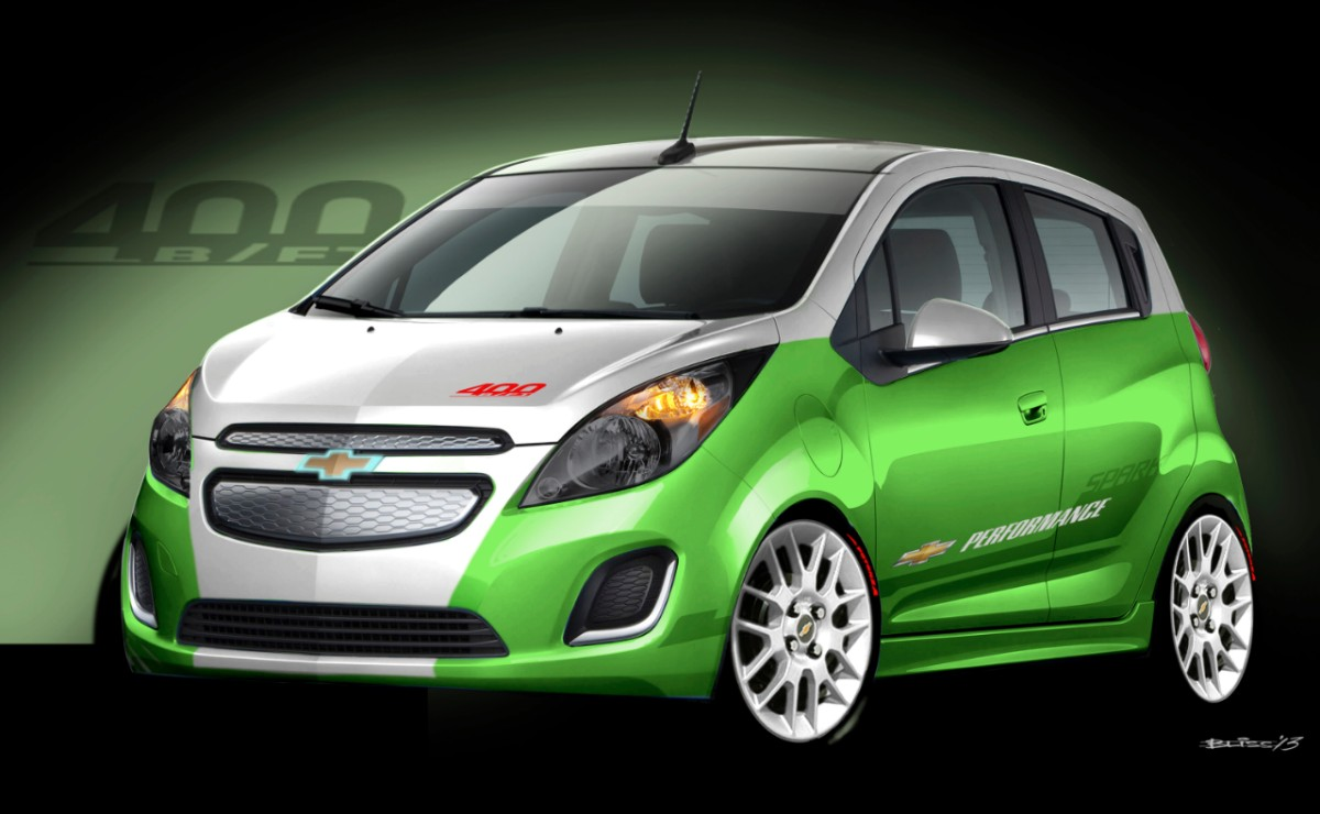 hot rod chevy spark ev unveiled for sema performance show. Black Bedroom Furniture Sets. Home Design Ideas
