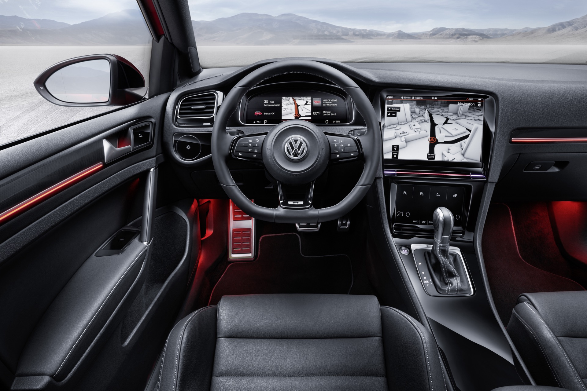 VW Golf R Concept Previews Next-Gen Interface, Gesture ...