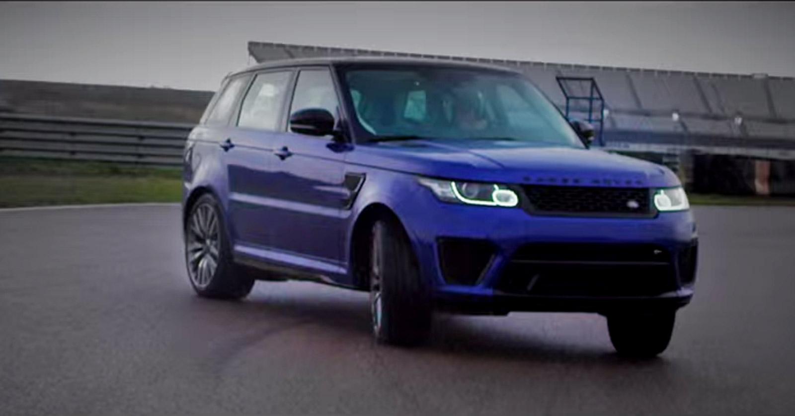 range rover sport svr gets sideways in dynamic driving video. Black Bedroom Furniture Sets. Home Design Ideas
