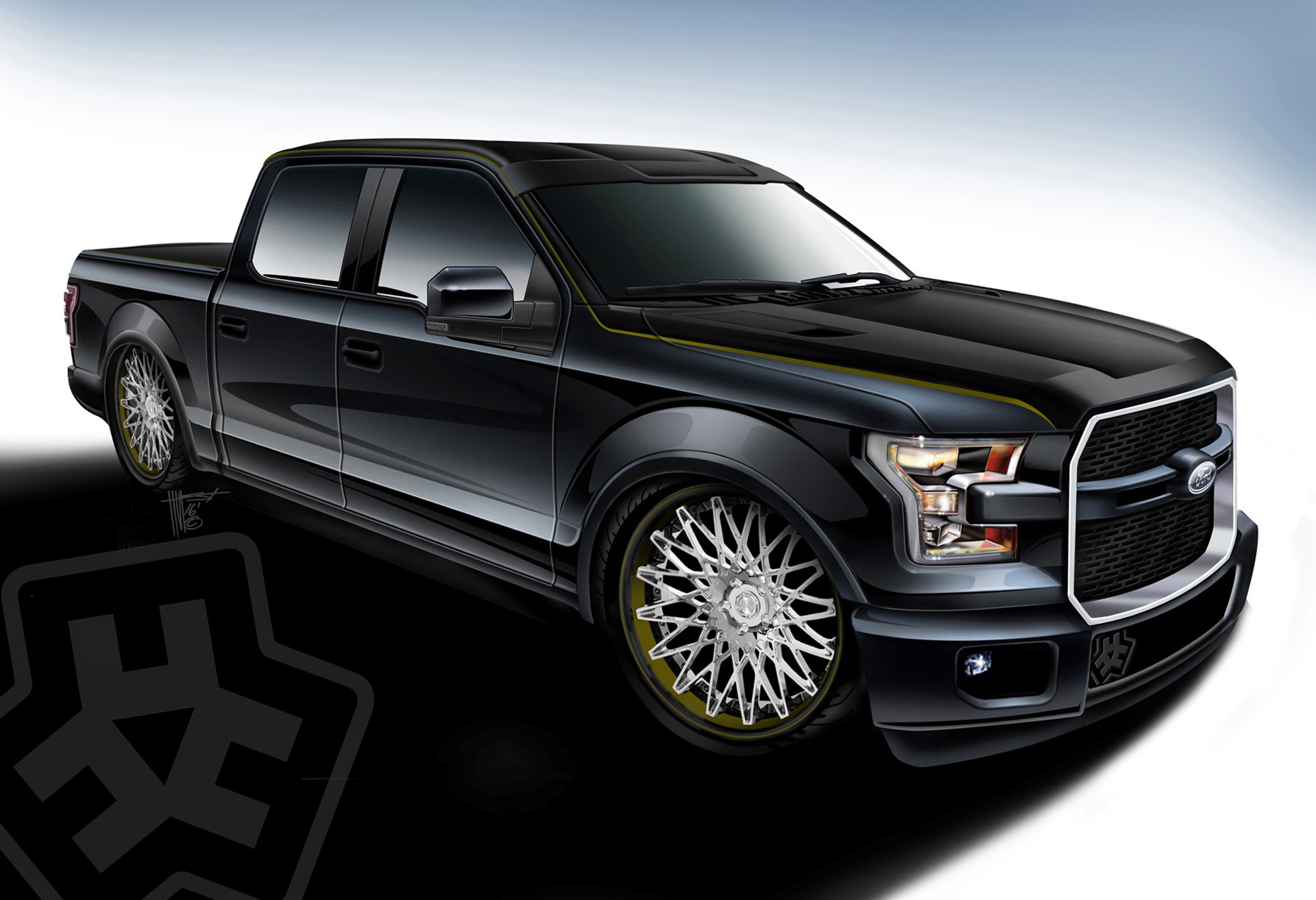 750-hp Hulst Customs special among Ford's F-150 SEMA fleet