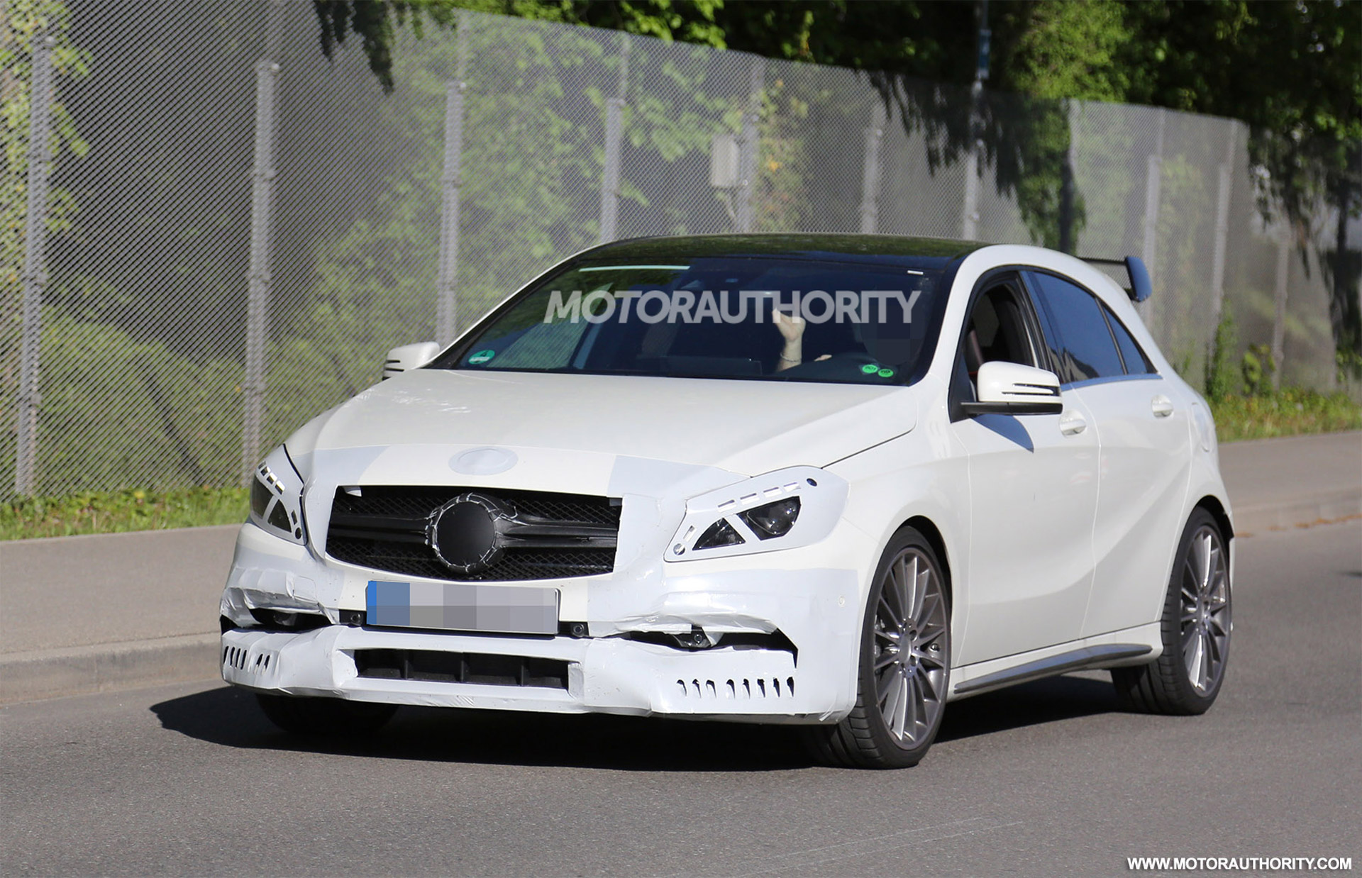 2016 mercedes amg a45 spy shots. Black Bedroom Furniture Sets. Home Design Ideas