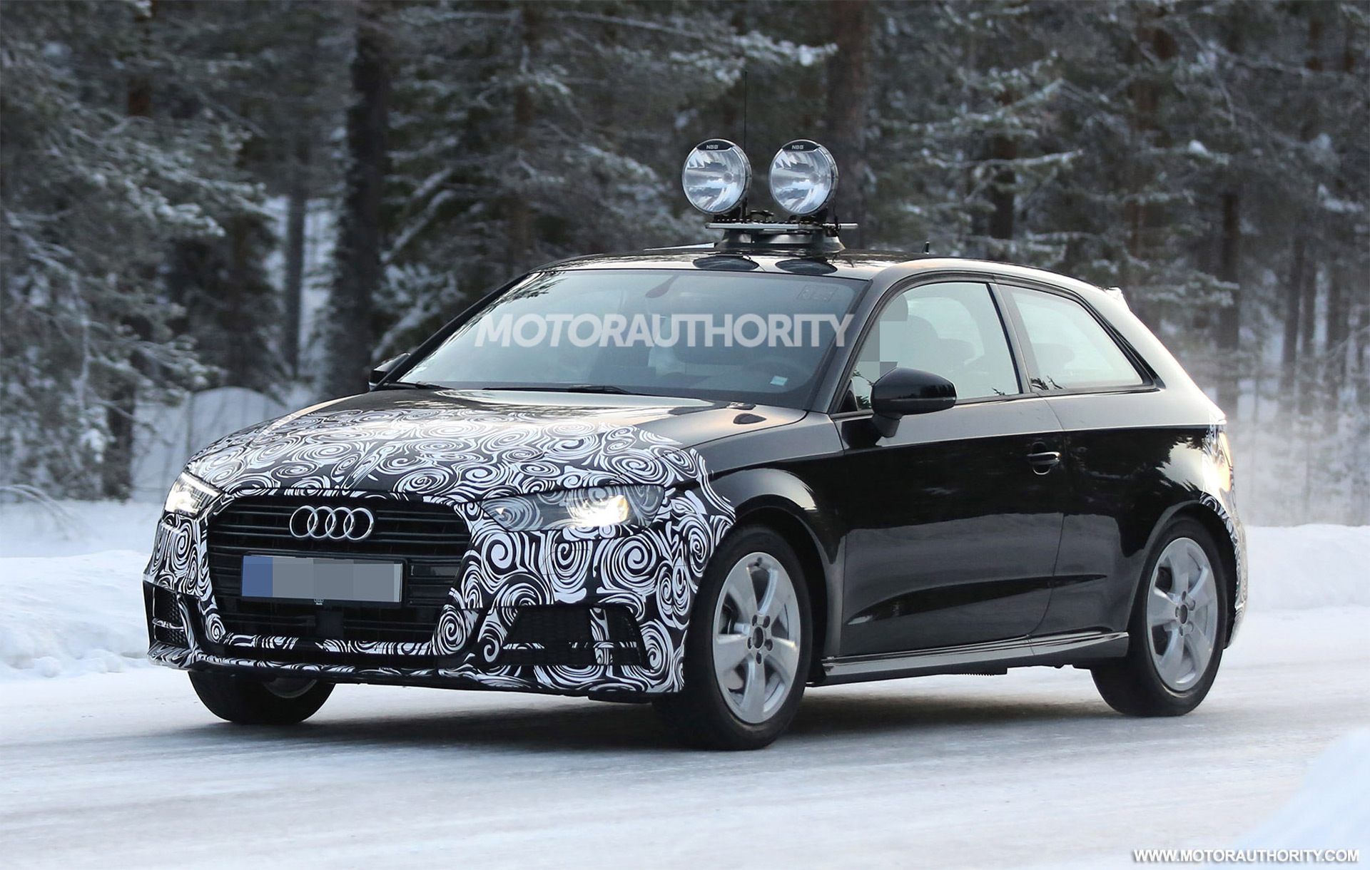 2017 audi a3 hatchback spy shots. Black Bedroom Furniture Sets. Home Design Ideas
