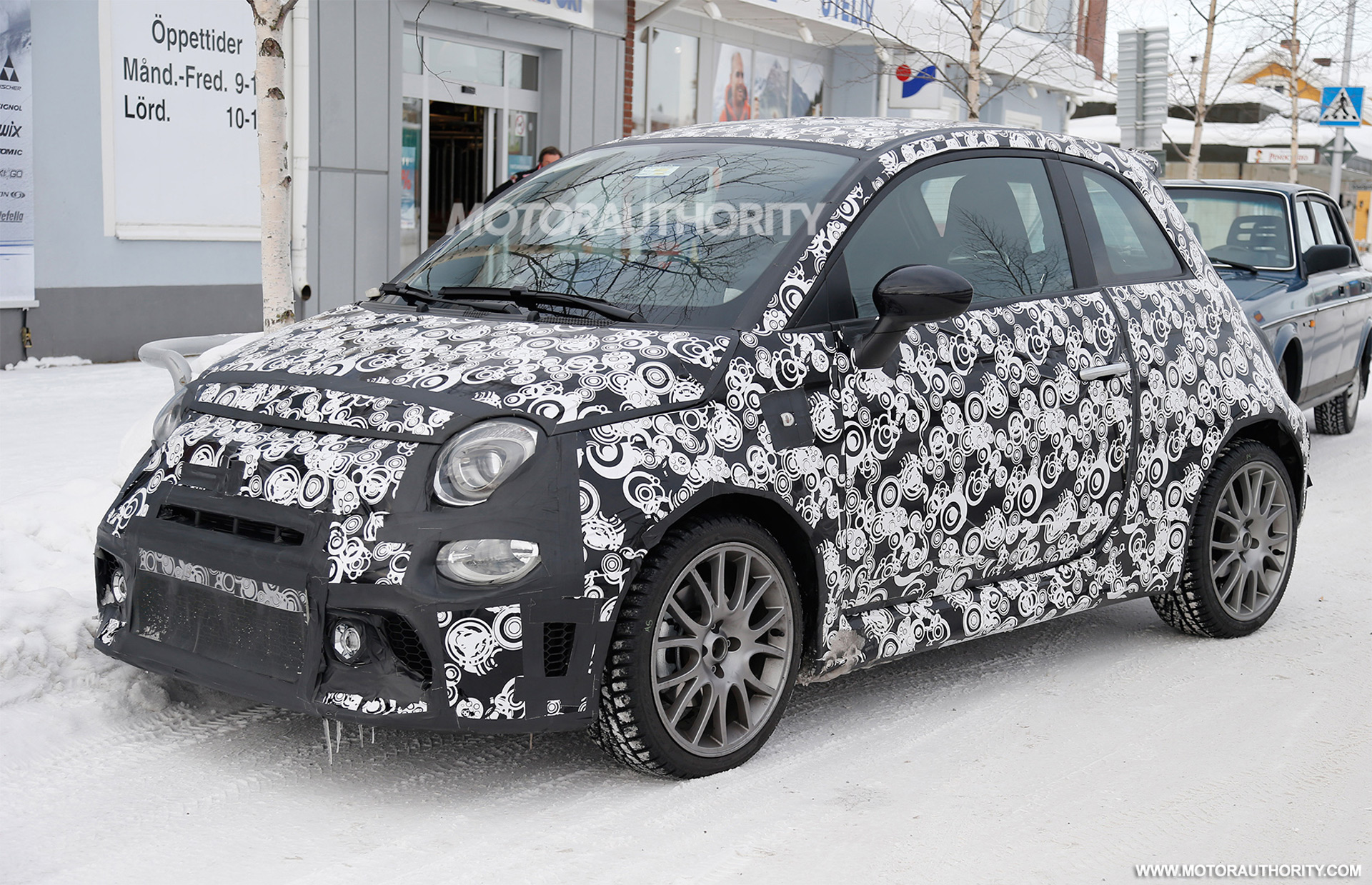 2017 fiat 500 abarth spy shots. Black Bedroom Furniture Sets. Home Design Ideas