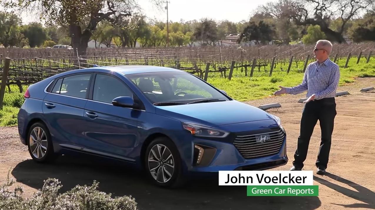 Green Car Reports >> 2017 Hyundai Ioniq Hybrid Video Drive Review