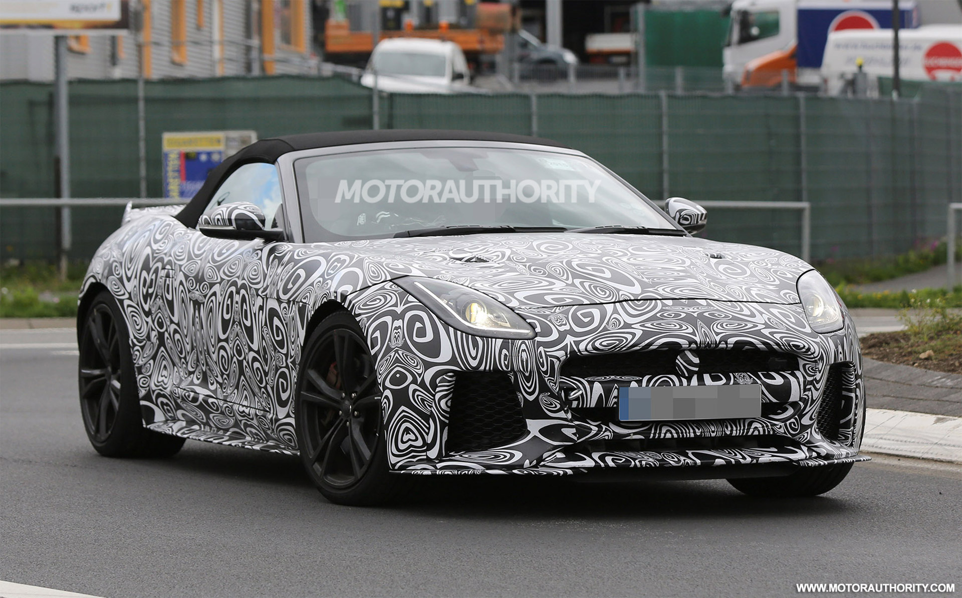 2017 Jaguar F Type Svr Convertible Spy Shots