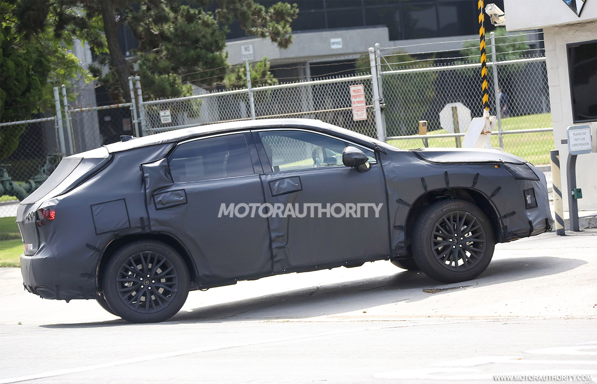lexus rx with third row seats spy shots