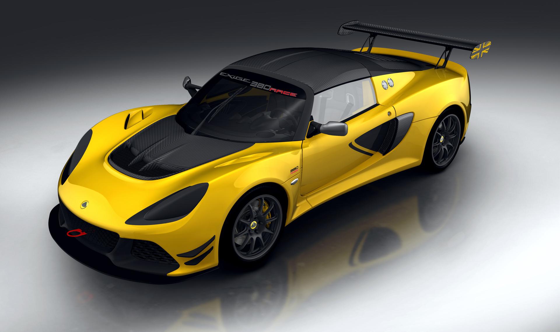 Lotus Exige Sport 380 spawns dedicated track model