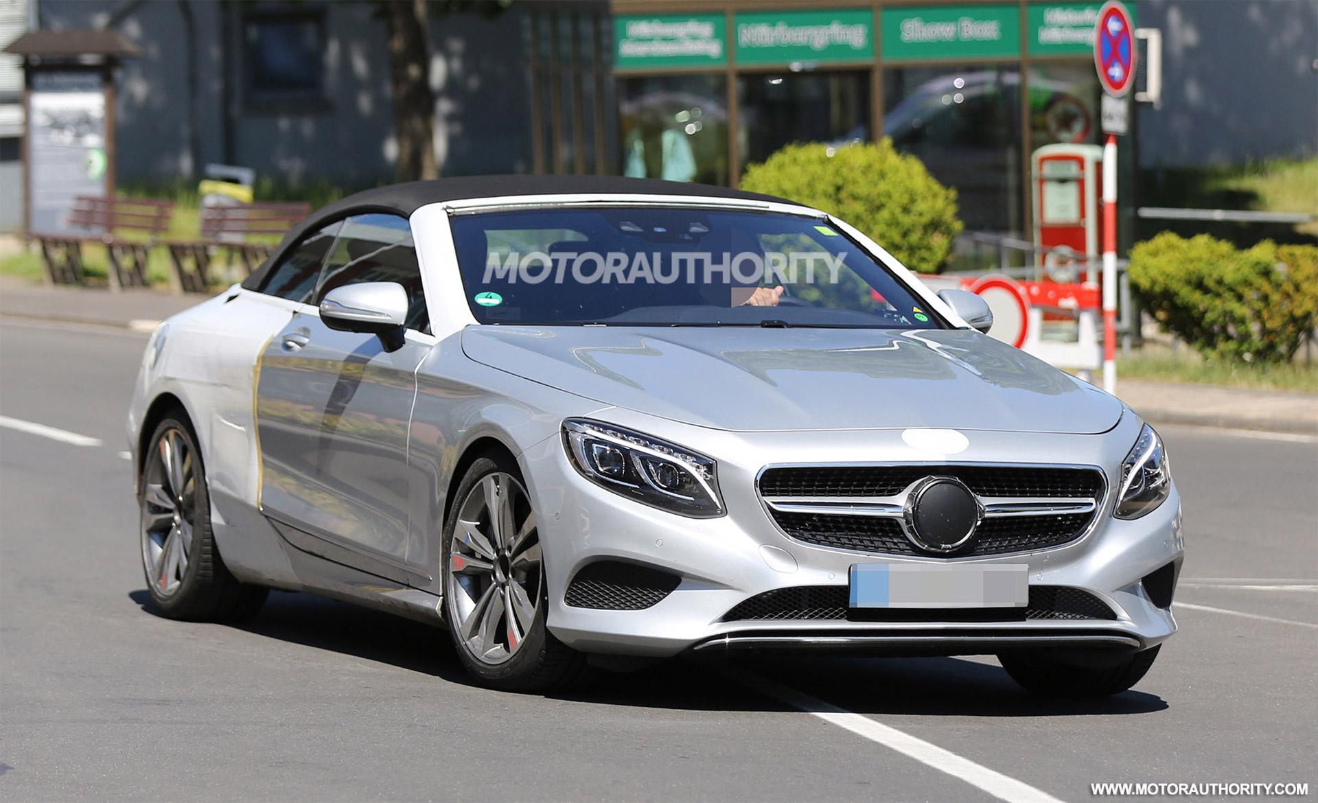 2017 Mercedes-Benz S-Class Cabriolet Spy Shots