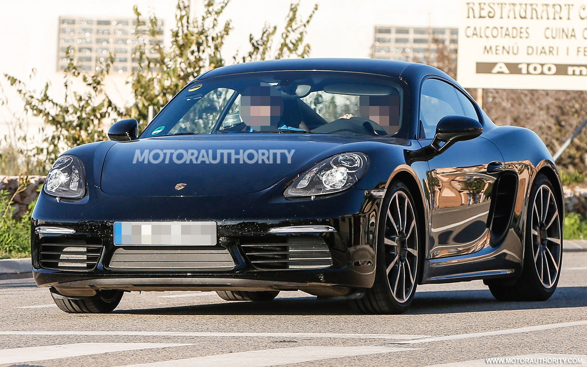 2017 porsche cayman spy shots and video. Black Bedroom Furniture Sets. Home Design Ideas