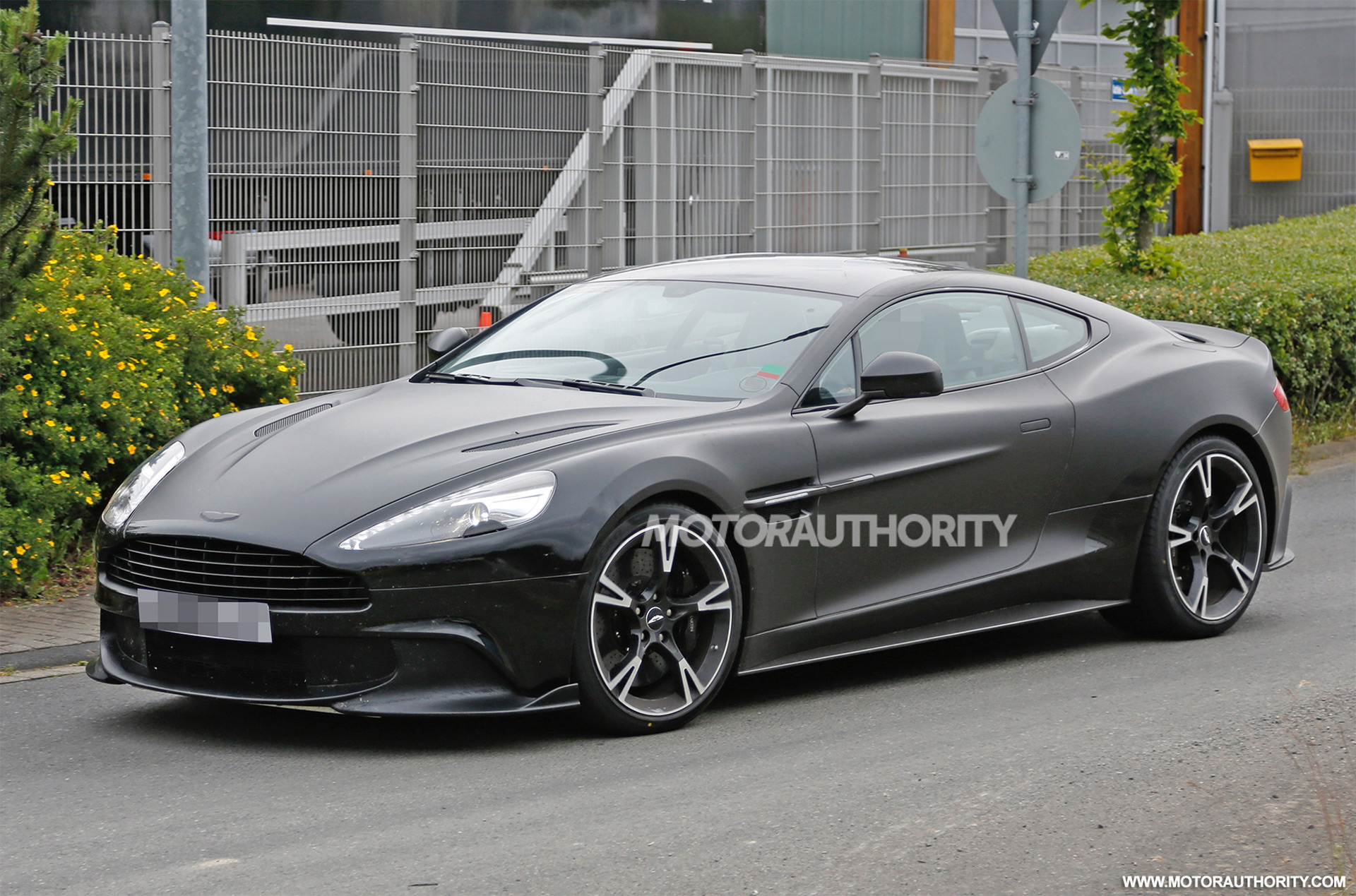 2018 aston martin vanquish s spy shots. Black Bedroom Furniture Sets. Home Design Ideas