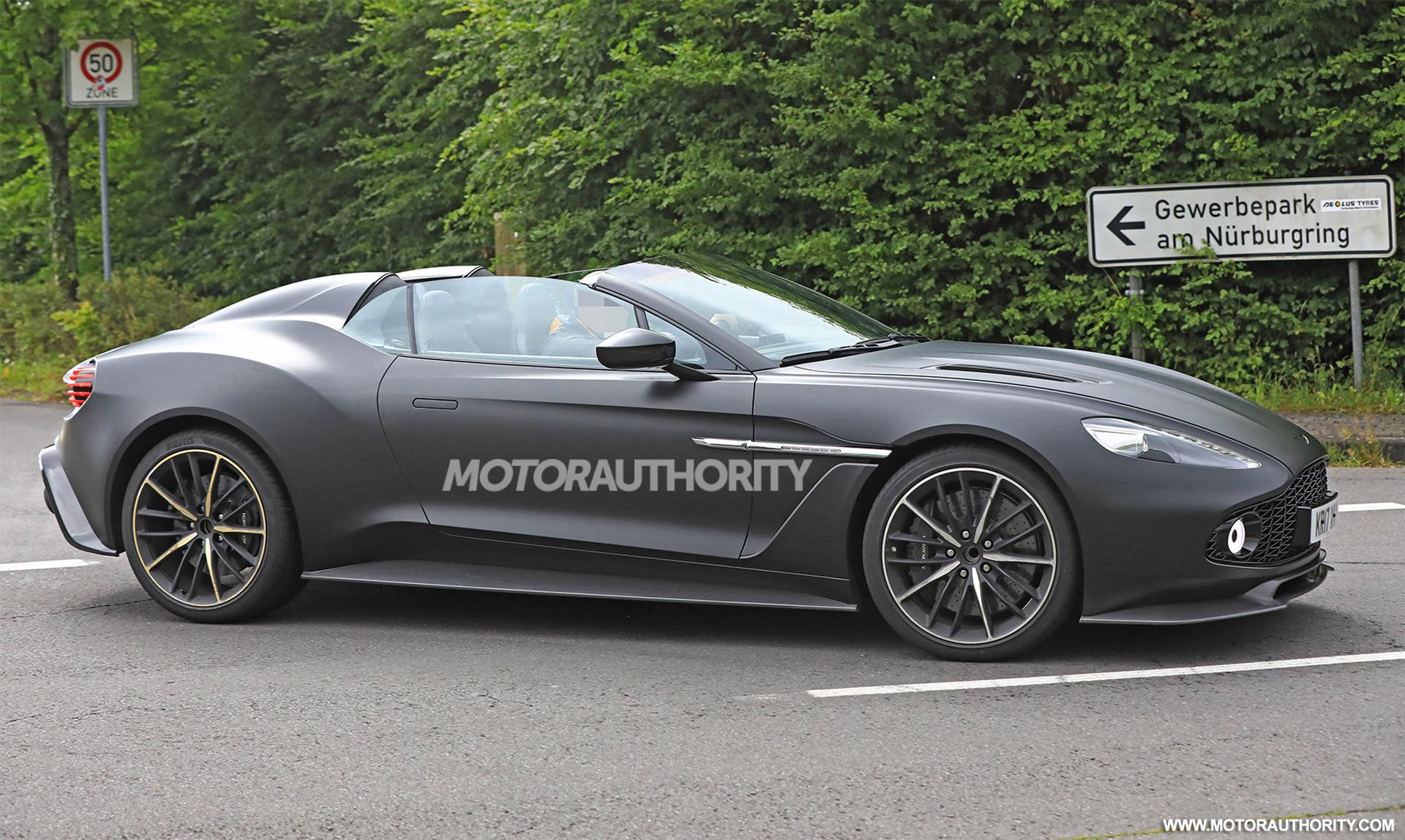Aston Martin Vanquish Zagato Speedster Spy Shots - New aston martin zagato