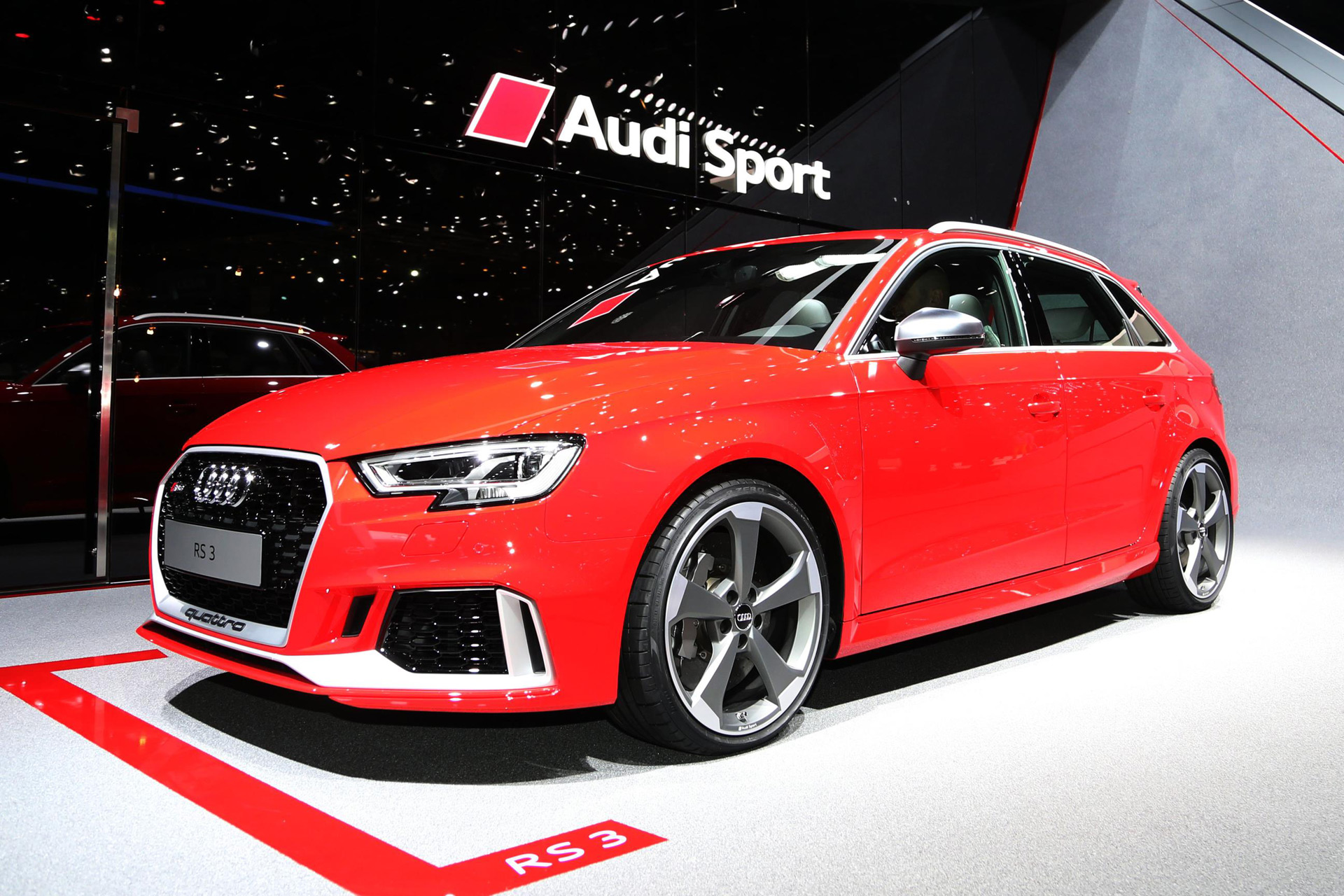 2018 audi rs 3 sportback debuts at 2017 geneva auto show. Black Bedroom Furniture Sets. Home Design Ideas