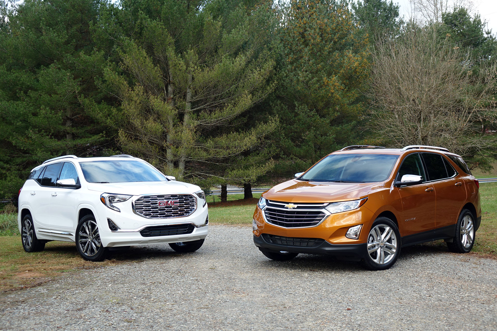 2018 chevrolet equinox vs  2018 gmc terrain  compare cars