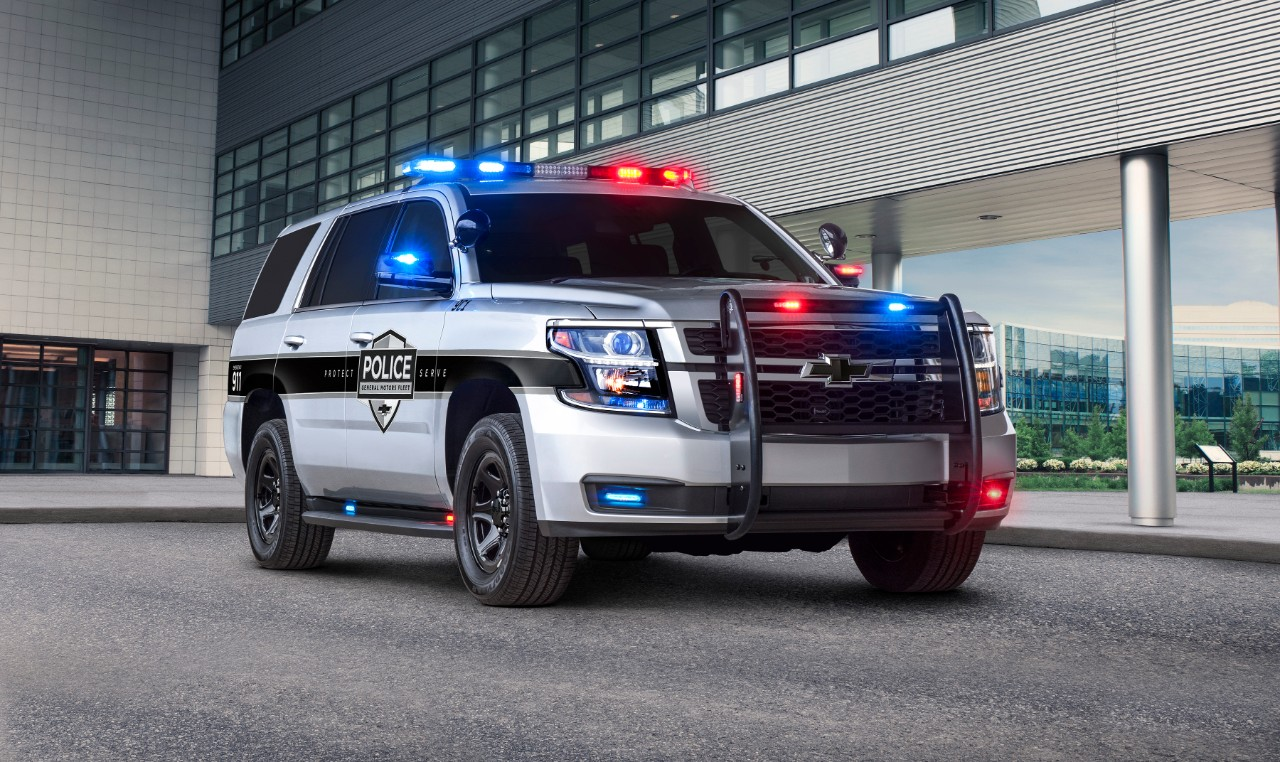 Chevy Tahoe Police Pursuit Vehicle adds safety tech
