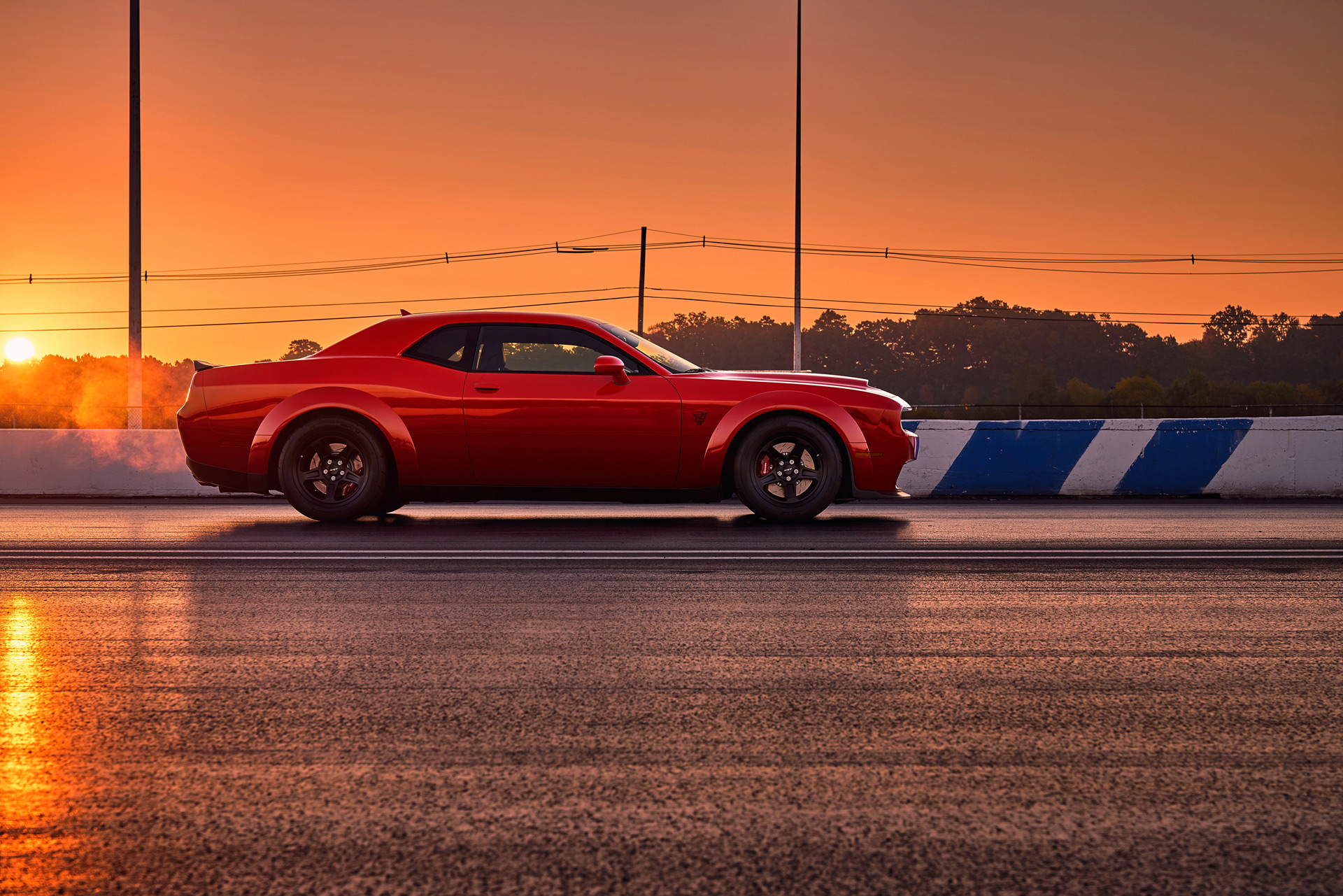 The fat Dodge Demon brakes harder than a Viper ACR