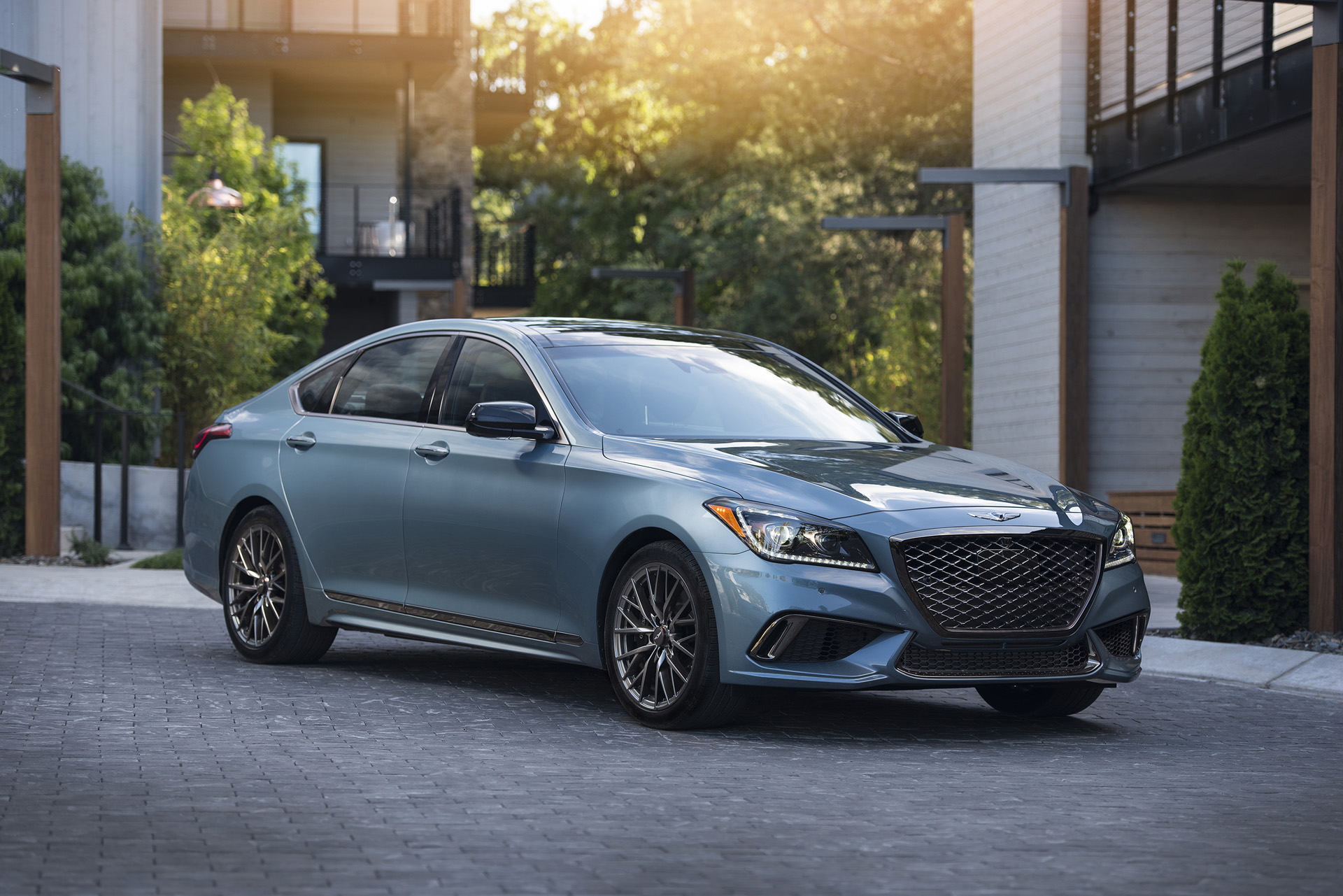 2018 genesis g80 sport first drive review it 39 s not all in the name. Black Bedroom Furniture Sets. Home Design Ideas