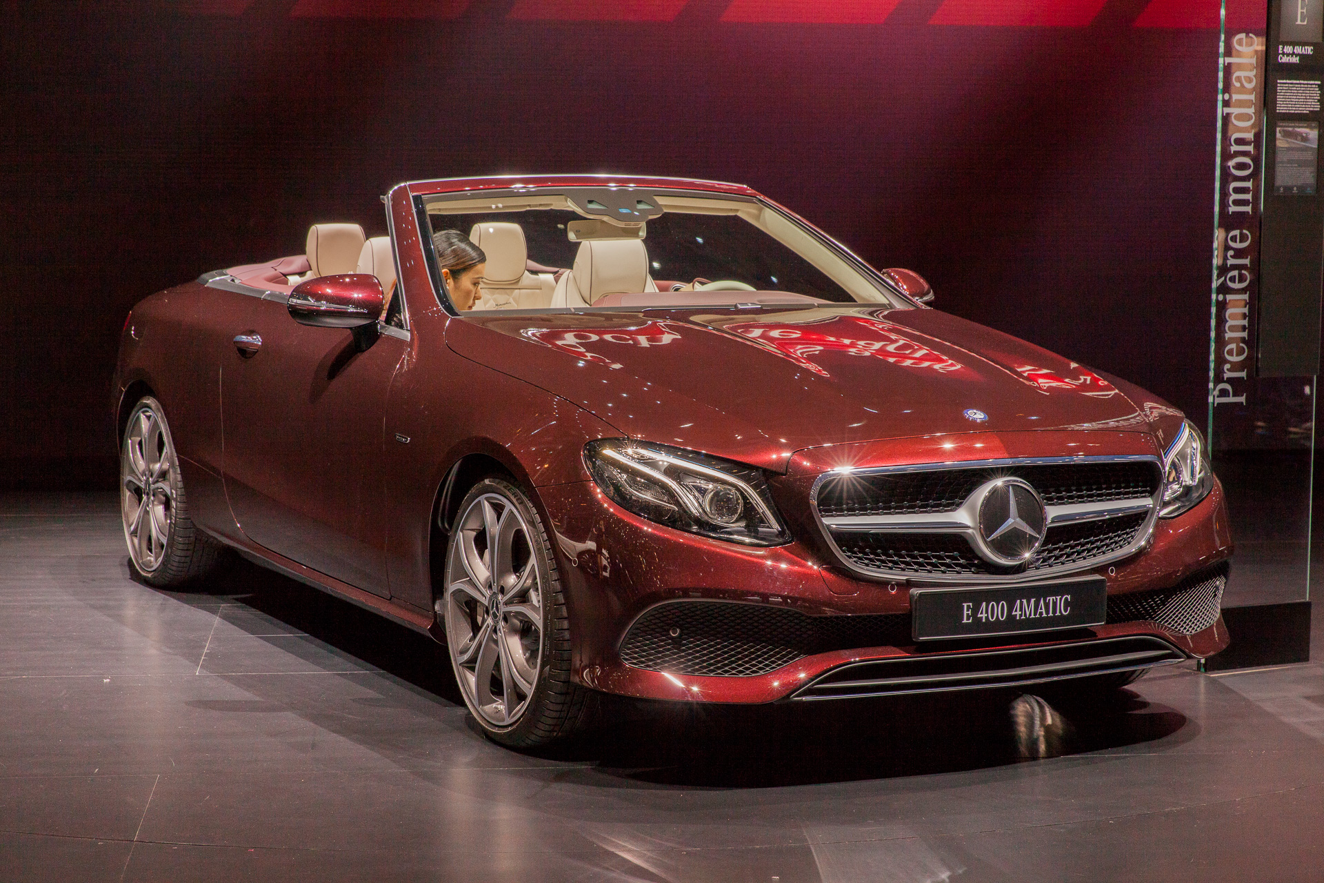 2018 mercedes benz e class cabrio drops top at geneva auto show. Black Bedroom Furniture Sets. Home Design Ideas