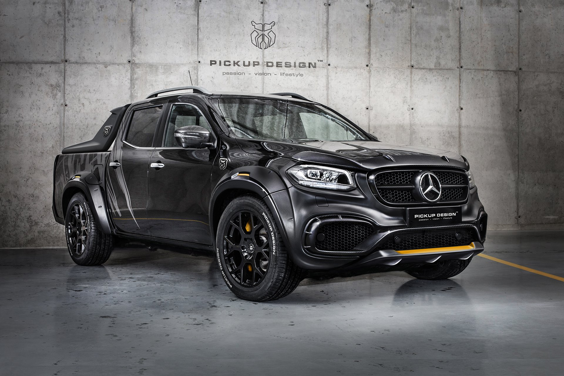 tuner builds wild mercedes benz x class pickup truck. Black Bedroom Furniture Sets. Home Design Ideas