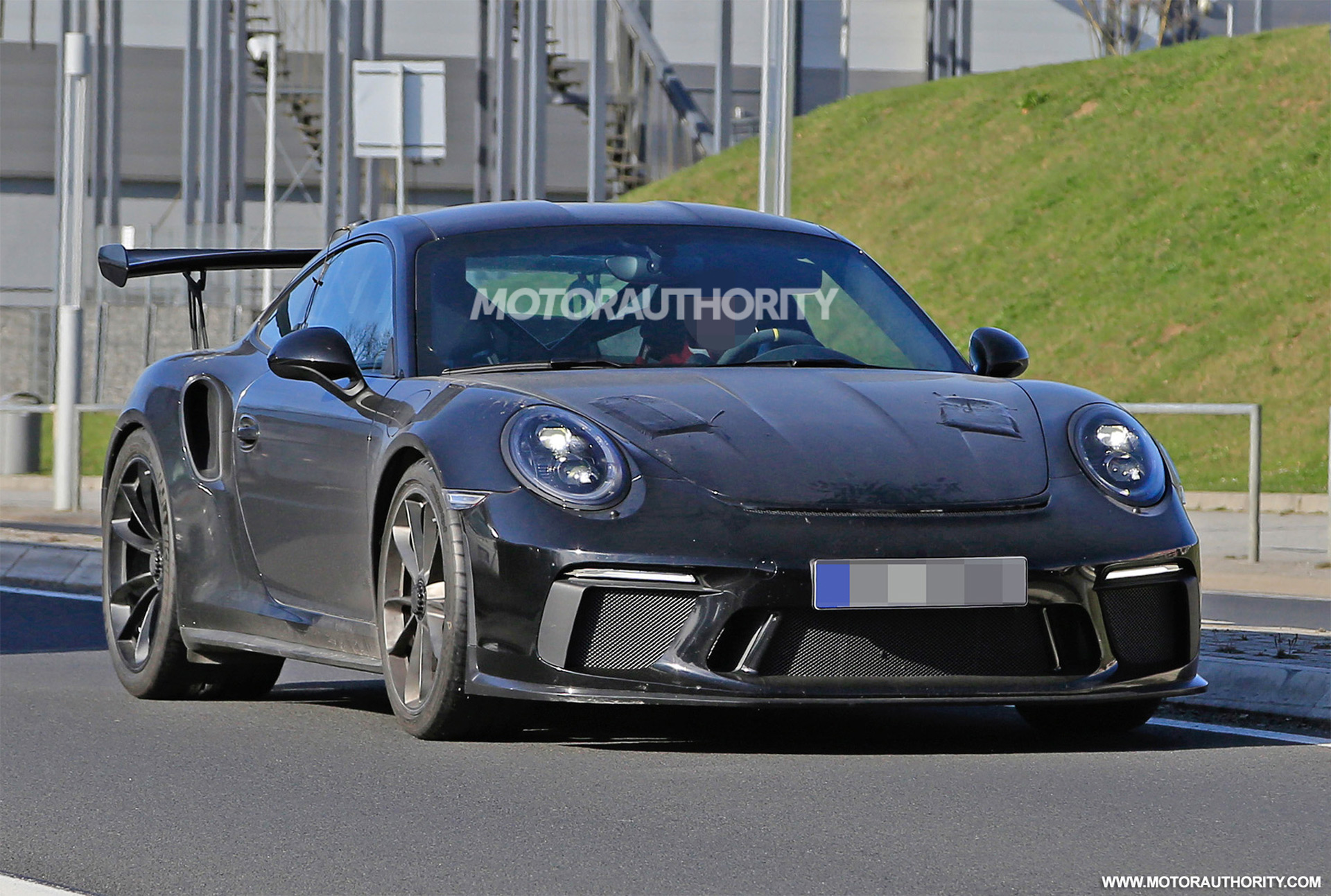 2018 porsche 911 gt3 rs spy shots and video. Black Bedroom Furniture Sets. Home Design Ideas