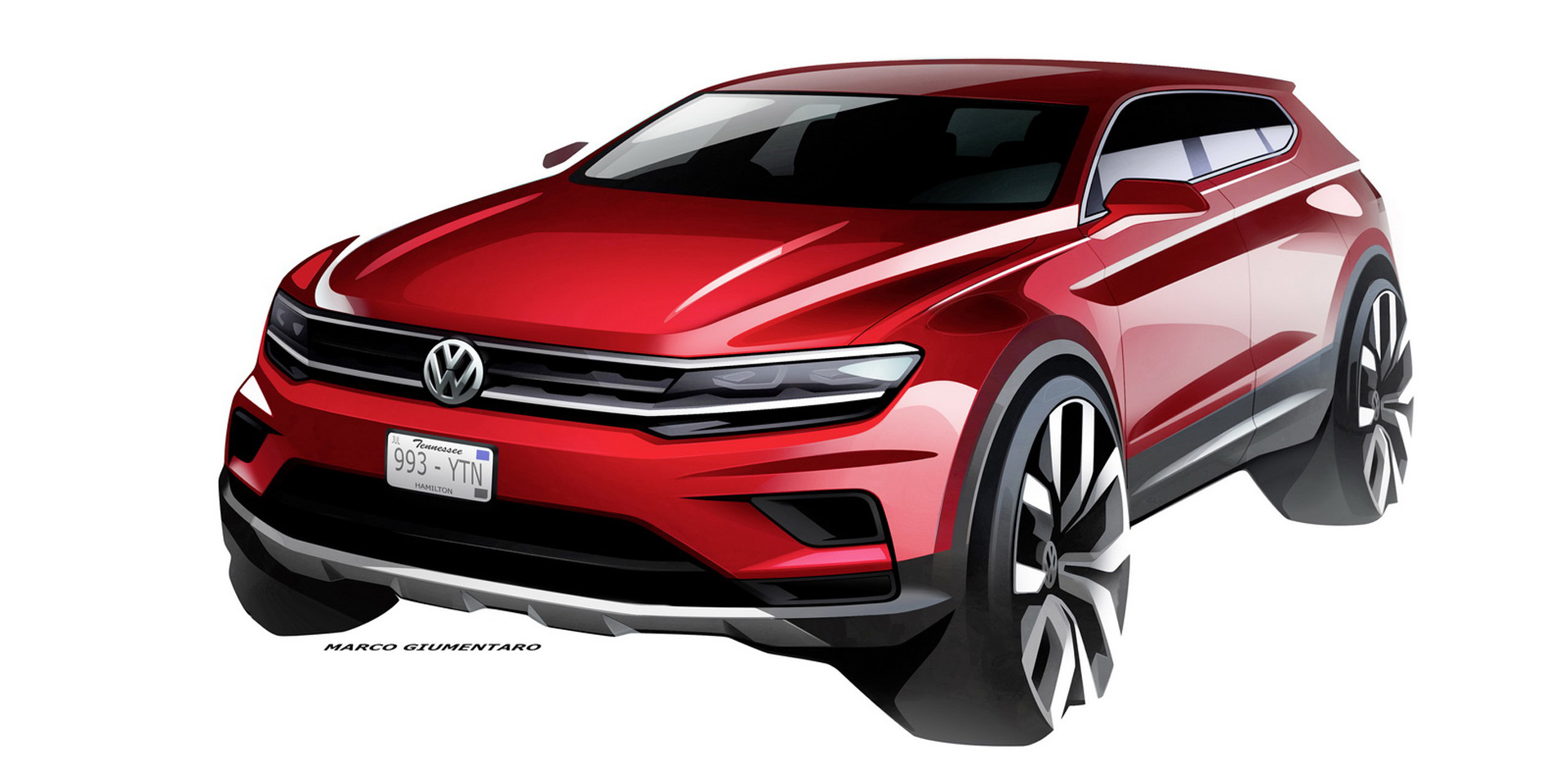 vw teases 7 seat tiguan allspace ahead of detroit auto show. Black Bedroom Furniture Sets. Home Design Ideas