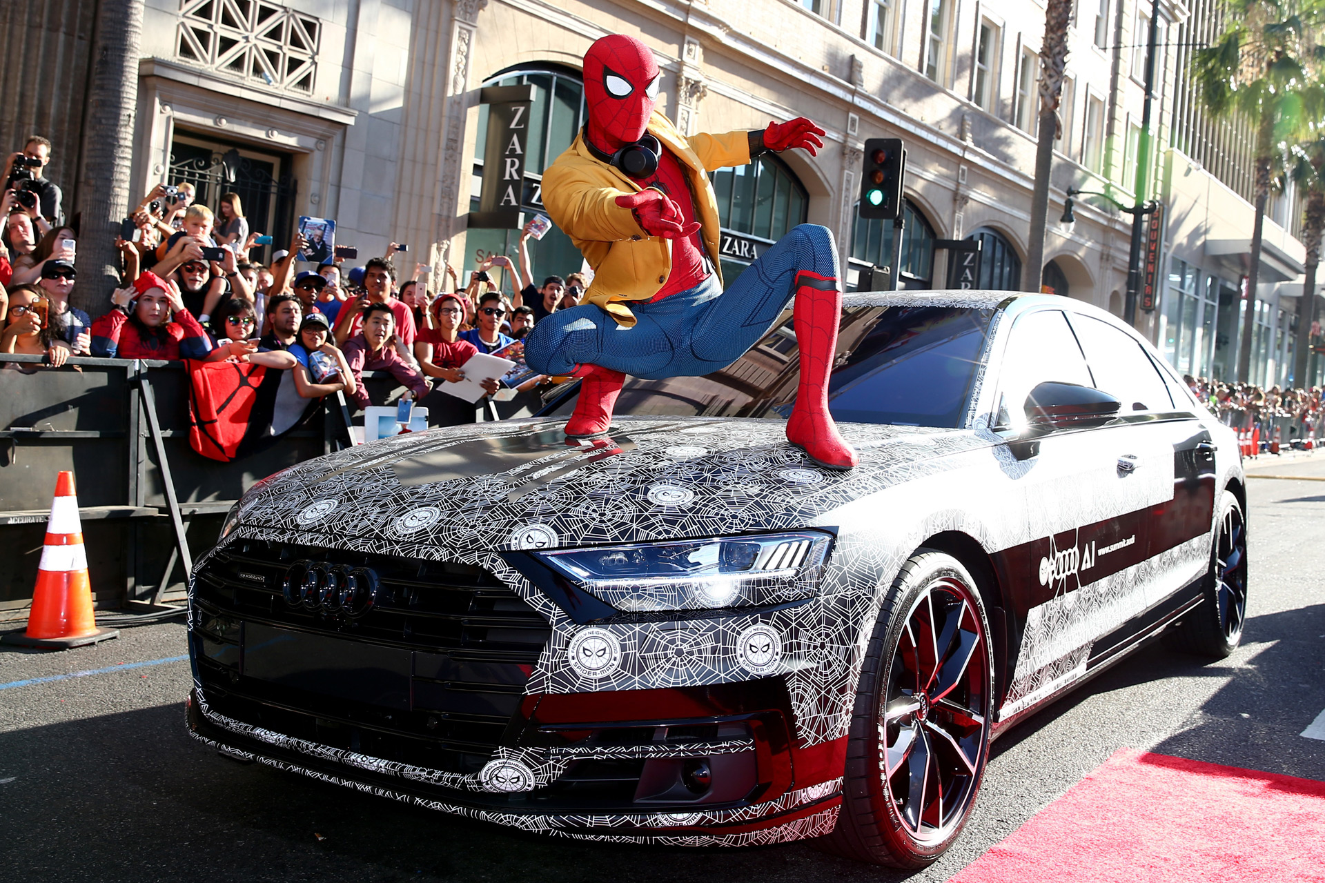 "2019 Audi A8 shows up at ""Spider-Man: Homecoming"" premiere"
