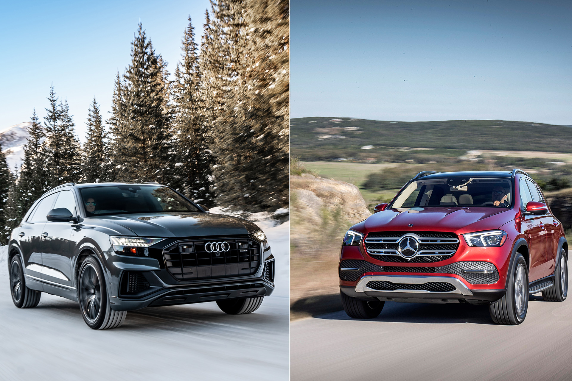 Luxury SUV rumble in the Rockies: 2019 Audi Q8 vs  2020 Mercedes