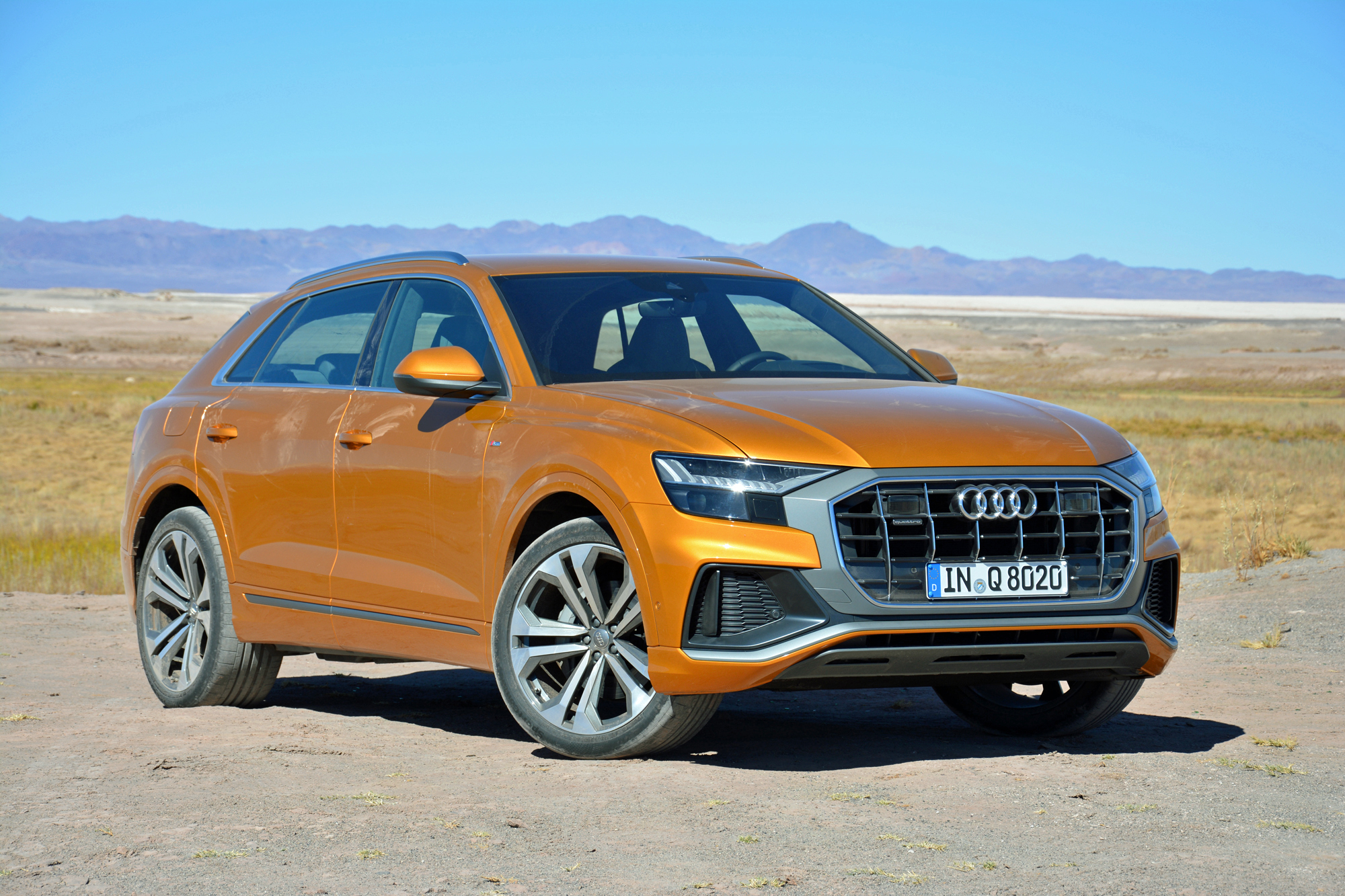2019 audi q8 first drive review the q flagship. Black Bedroom Furniture Sets. Home Design Ideas