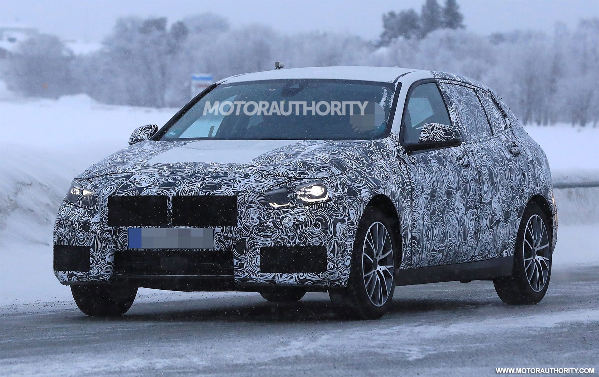2019 bmw 1 series hatchback spy shots and video. Black Bedroom Furniture Sets. Home Design Ideas