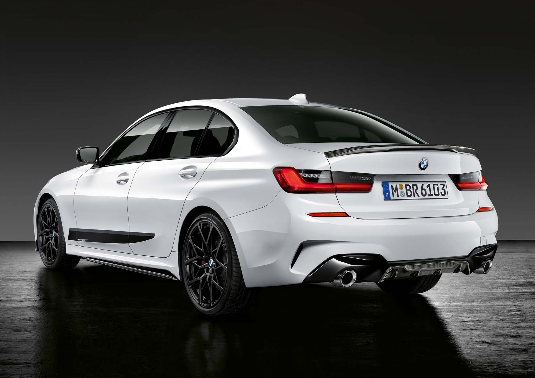 bmw is ready with m performance parts for the new 3 series. Black Bedroom Furniture Sets. Home Design Ideas