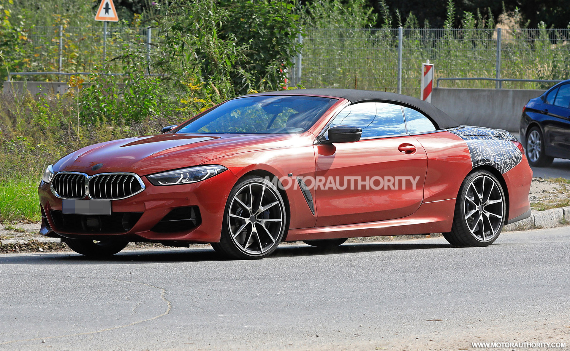 2019 bmw 8 series convertible spy shots and video. Black Bedroom Furniture Sets. Home Design Ideas