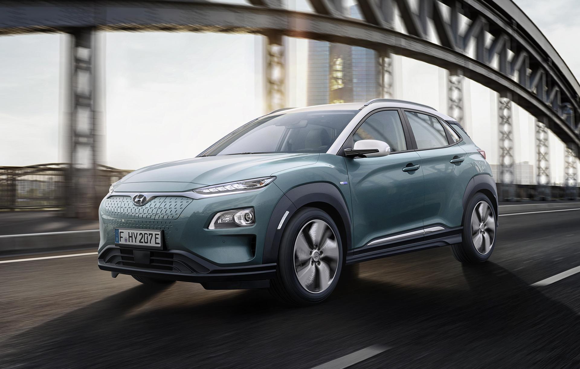 Hyundai Kona Electric Debuts Before Geneva Show 292 Mile Range From Top Model