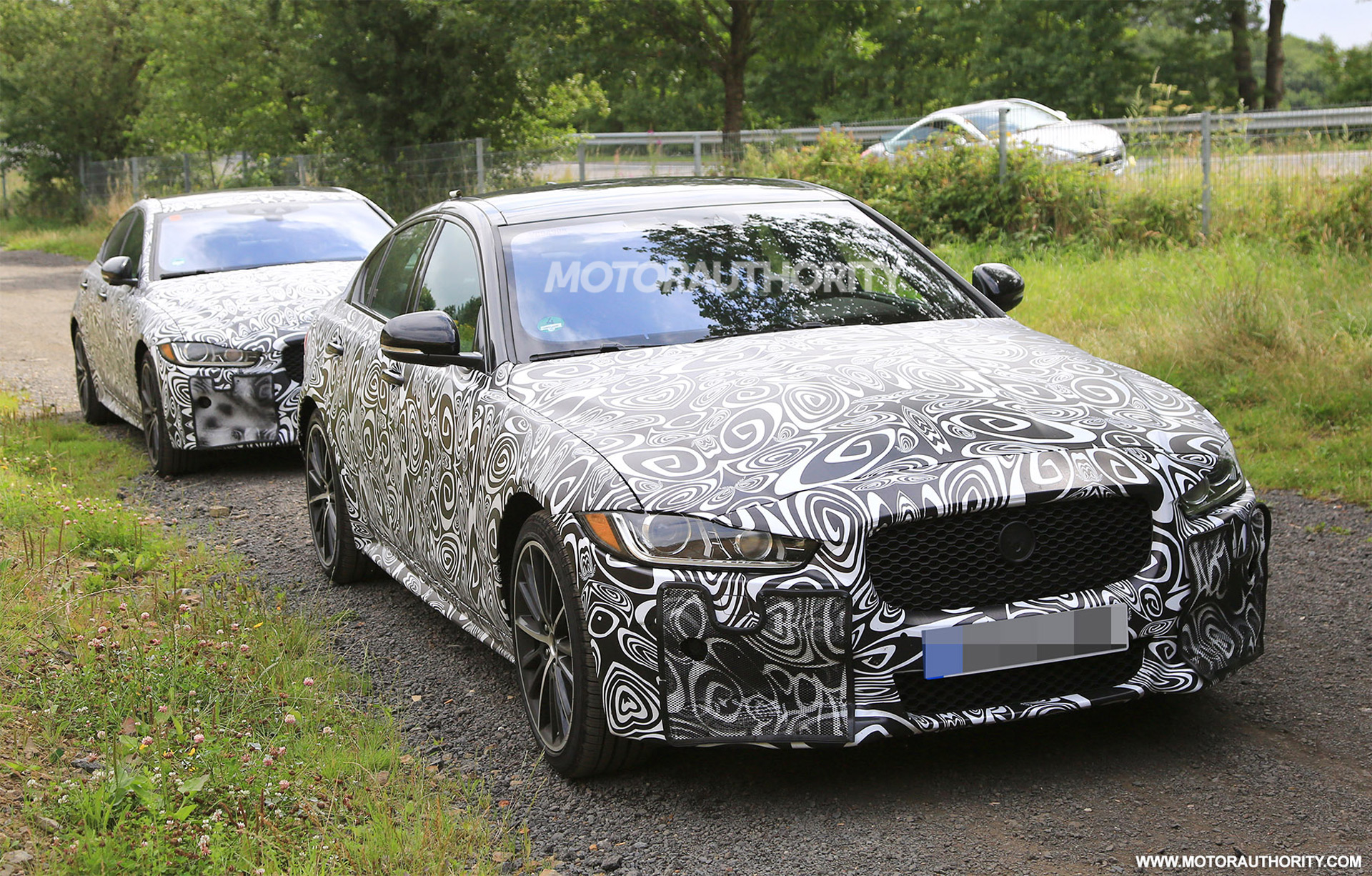 2019 Jaguar XE SVR spy shots