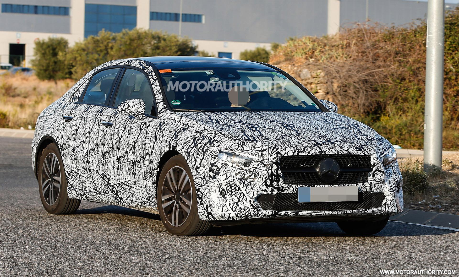 2019 mercedes benz a class sedan spy shots for Mercedes benz a class sedan