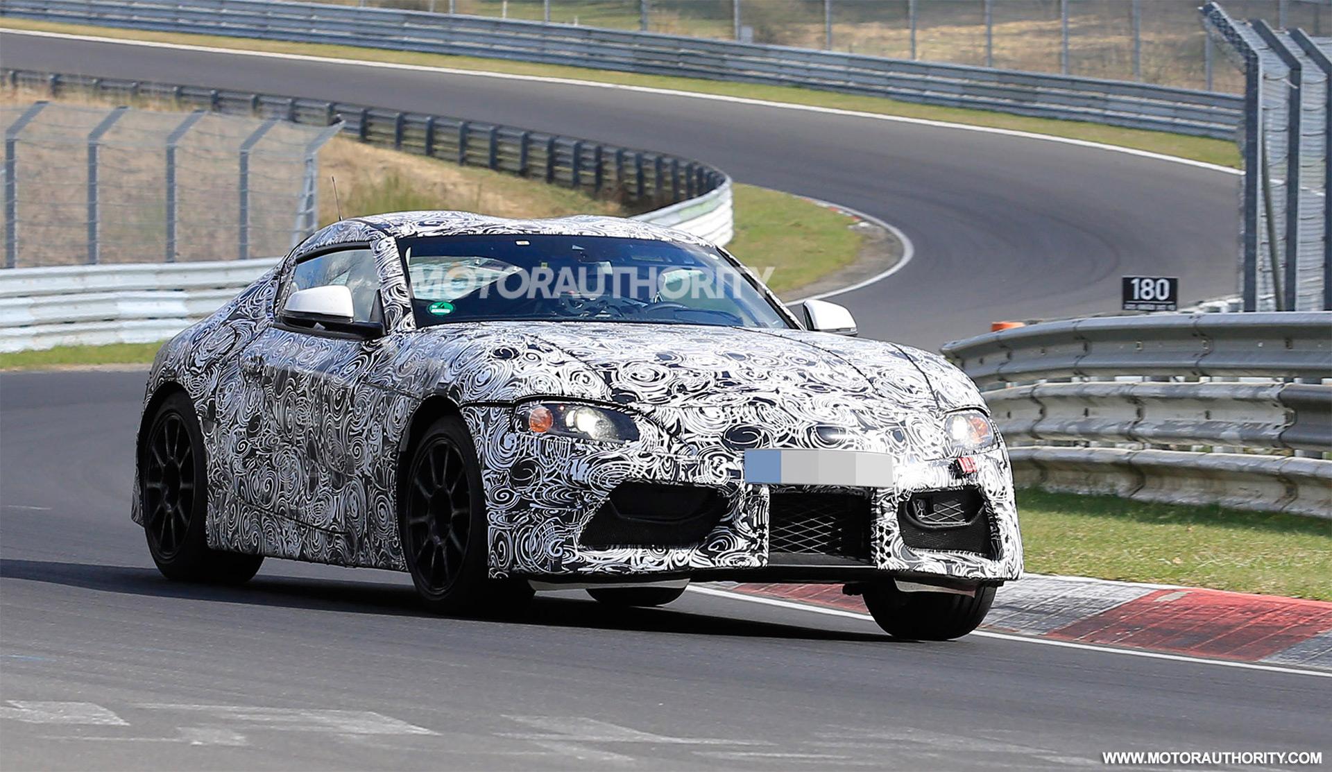 Supra Spy Shots >> Report New Toyota Supra Will Get Grmn Range Topper