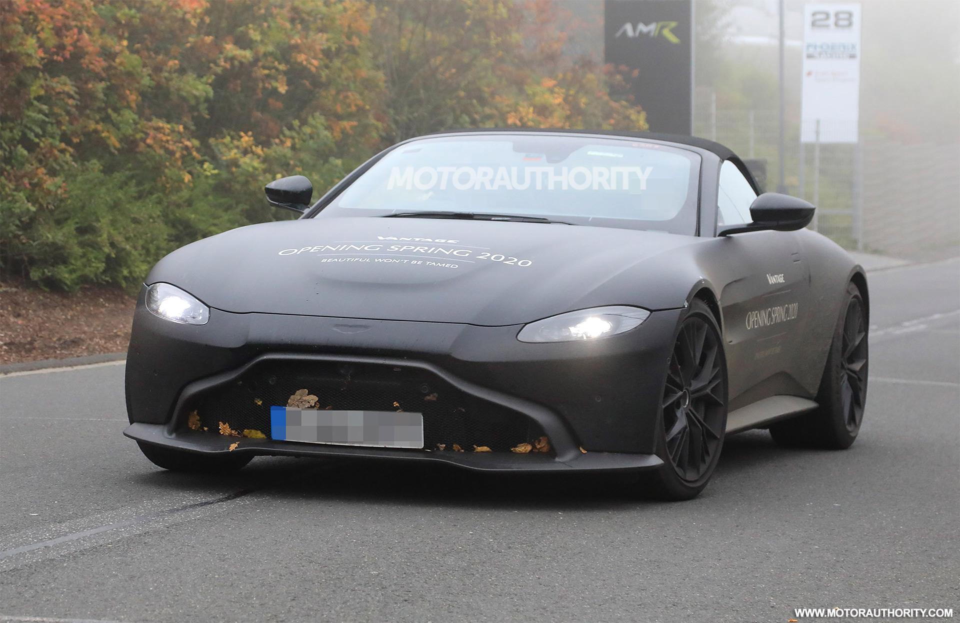 2020 Aston Martin Vantage Roadster Spy Shots