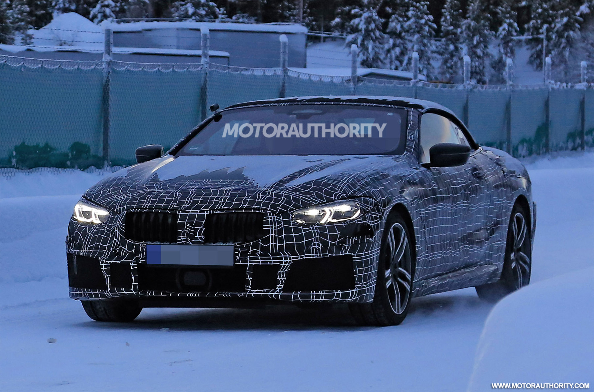 2020 bmw 8 series convertible spy shots and video. Black Bedroom Furniture Sets. Home Design Ideas