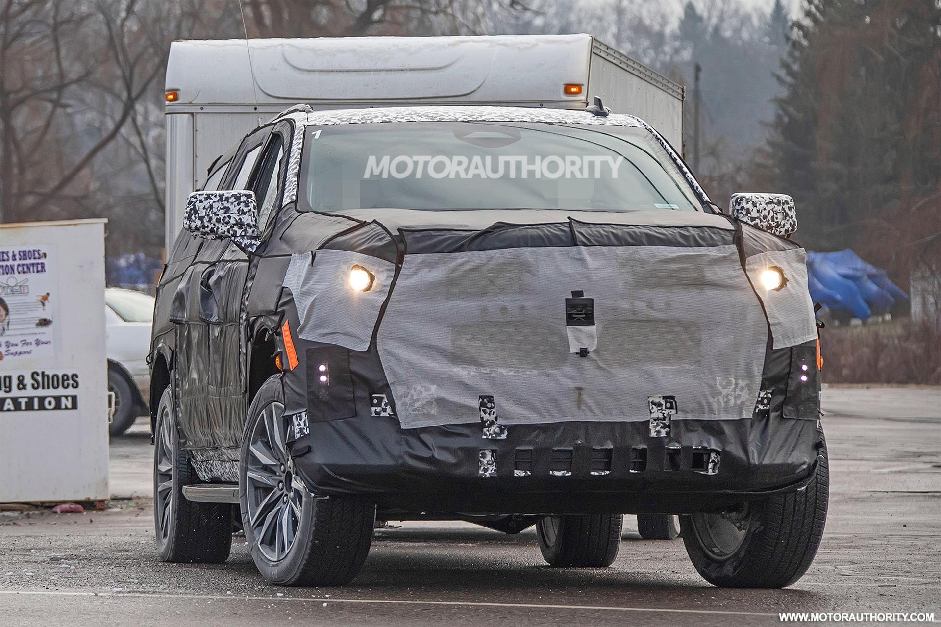 2020 Cadillac Escalade Esv Spy Shots