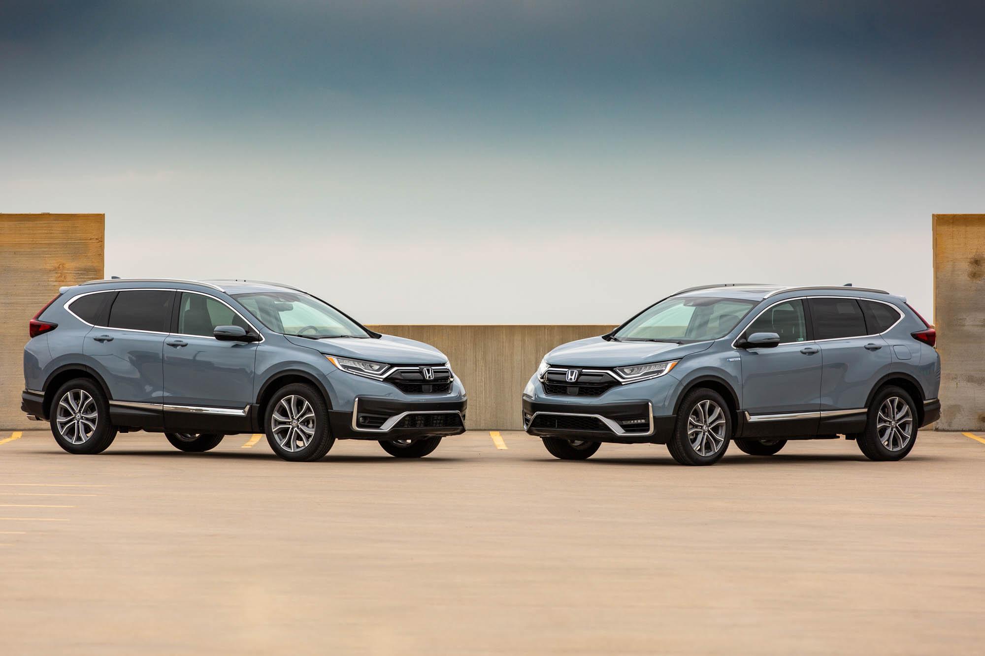 2020 Honda Cr V Vs 2020 Honda Cr V Hybrid Compared Crossover Suv Cross Up