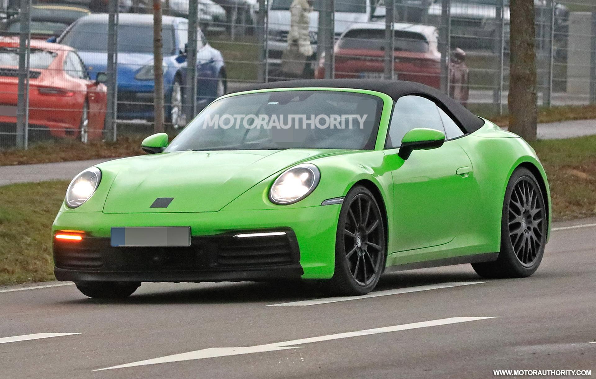 2020 Porsche 911 Cabriolet Spy Shots