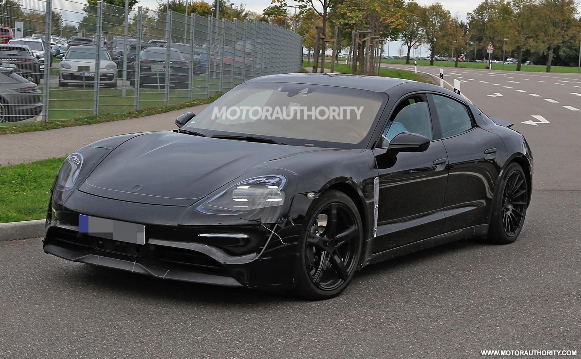 2020 Porsche Mission E Electric Sedan Spy Shots