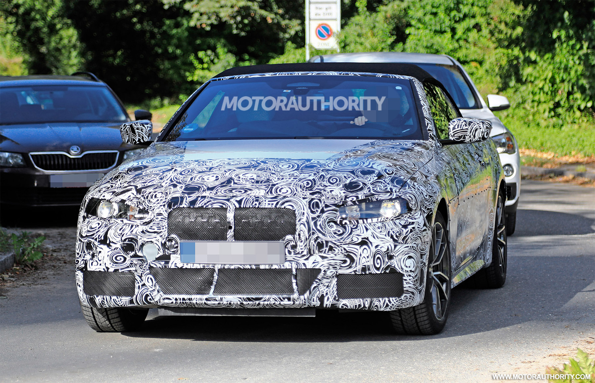 2021 bmw 4 series convertible spy shots. Black Bedroom Furniture Sets. Home Design Ideas