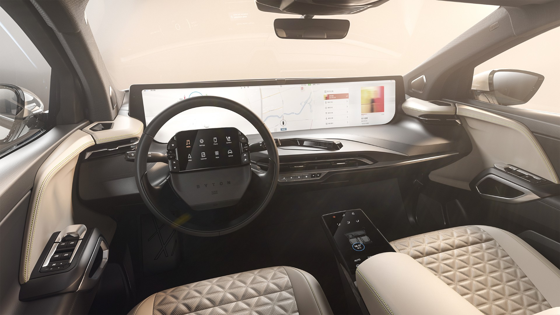 Byton M-Byte electric SUV: More interior photos, US ...