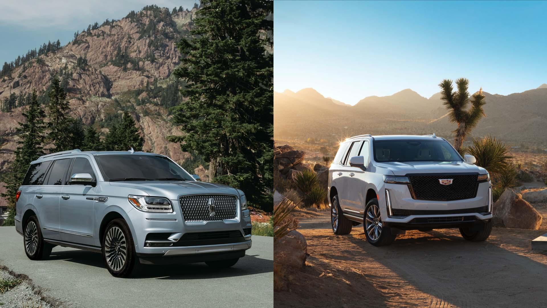 2021 Cadillac Escalade Vs 2020 Lincoln Navigator How The Full Size Suvs Compare
