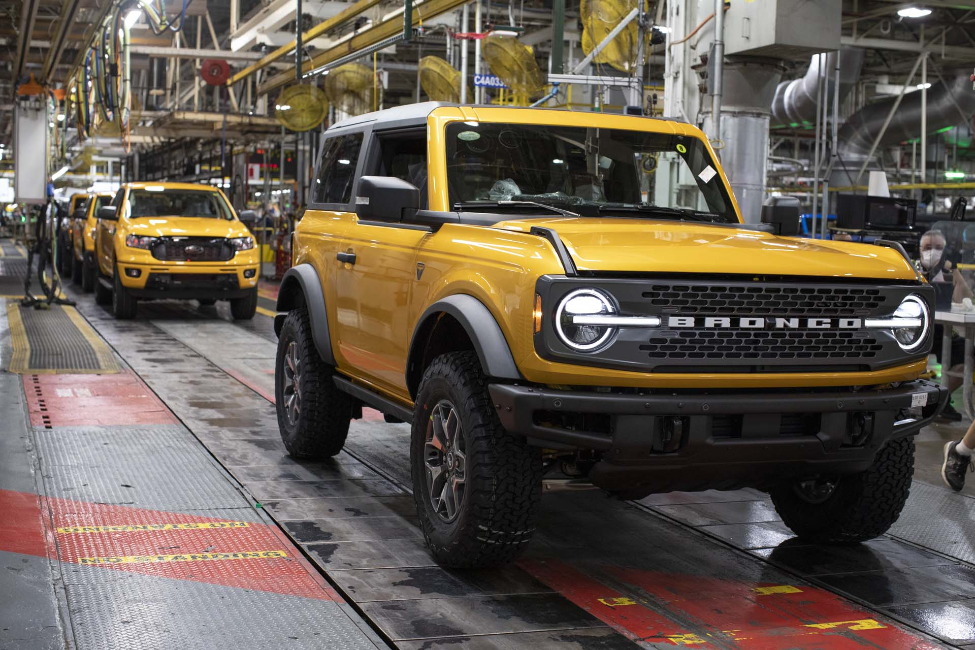2021 Ford Bronco production is underway