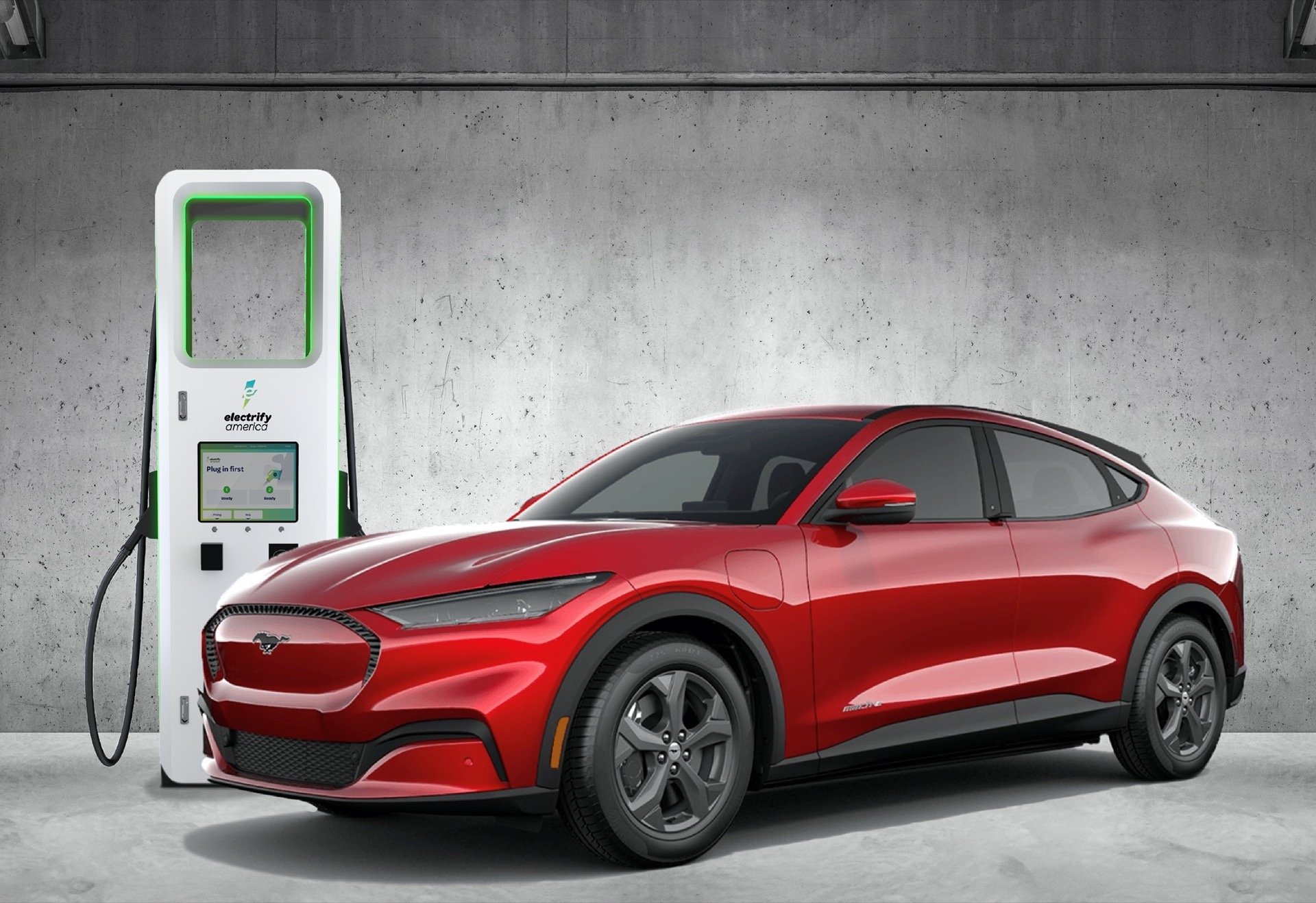 Bộ sạc nhanh Ford Mustang Mach-E 2021 tại Electrify America