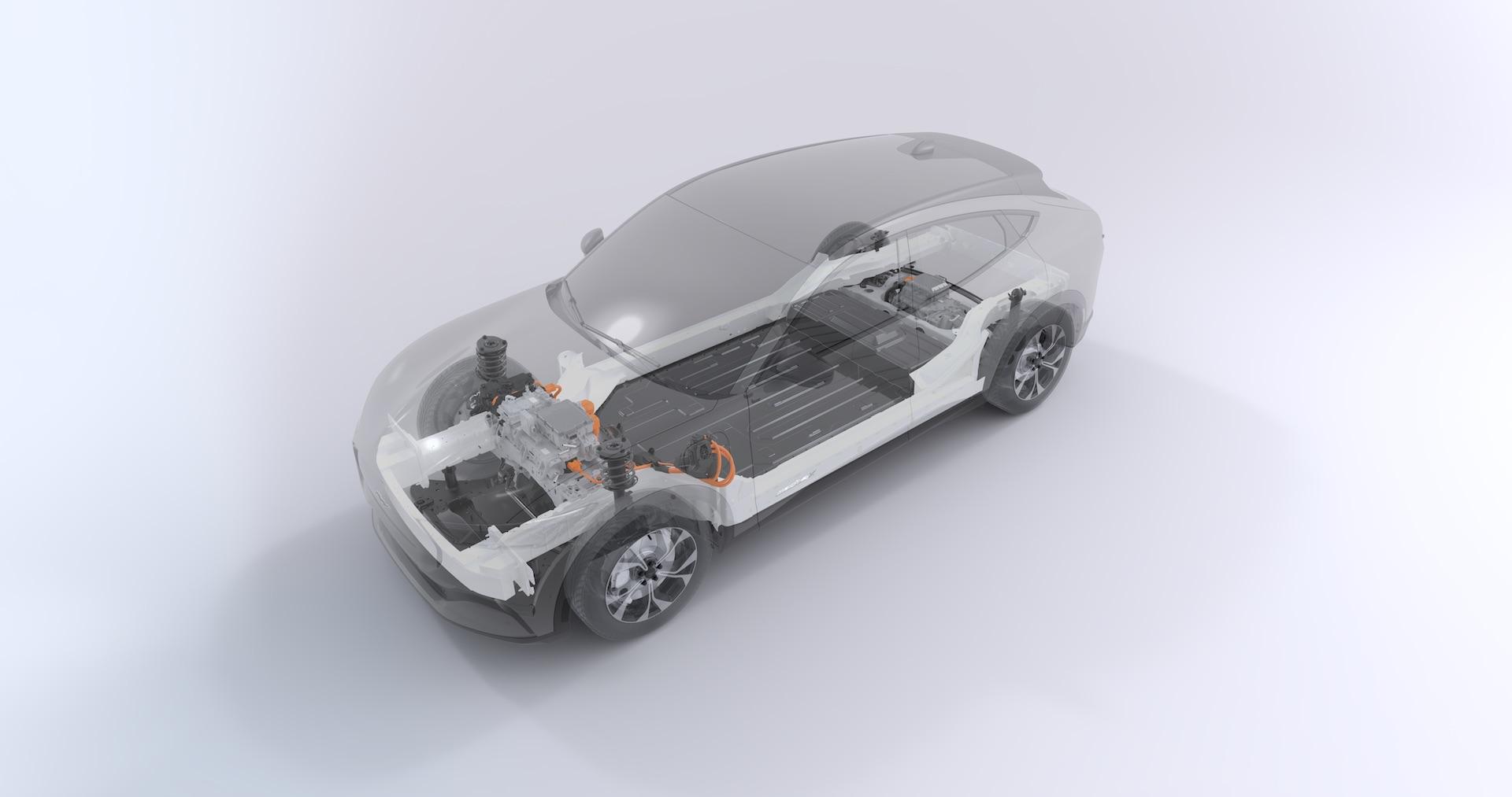 Hệ thống truyền động điện Ford Mustang Mach-E 2021