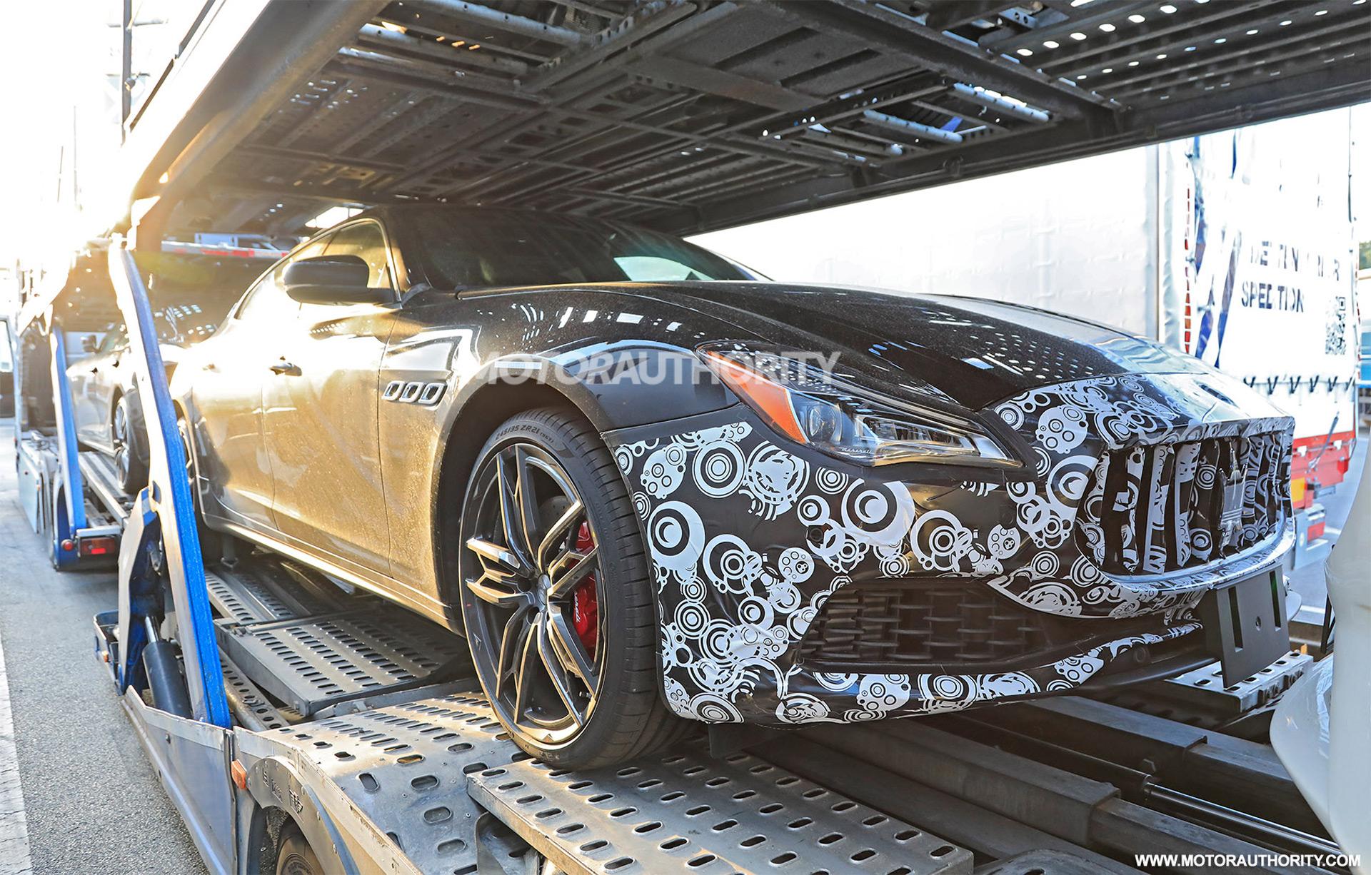 2021 Maserati Quattroporte spy shots