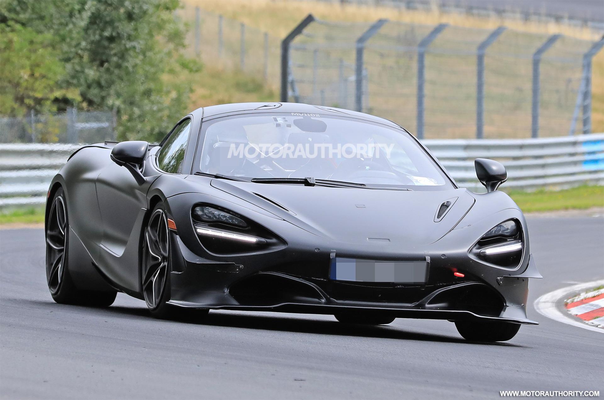 2021 McLaren 750LT spy shots